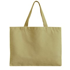 Brown Sand Color Design Zipper Mini Tote Bag by picsaspassion