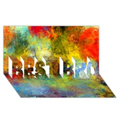 Lagoon Best Bro 3d Greeting Card (8x4) by theunrulyartist