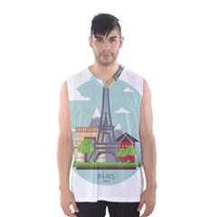 Paris France French Europe Travel Men s Basketball Tank Top by Zeze
