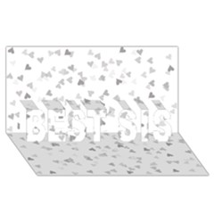 Silver Hearts Confetti Best Sis 3d Greeting Card (8x4) by theimagezone