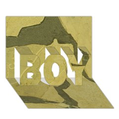 Stylish Gold Stone Boy 3d Greeting Card (7x5) by yoursparklingshop