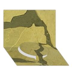 Stylish Gold Stone Circle Bottom 3d Greeting Card (7x5)