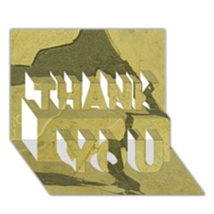 Stylish Gold Stone Thank You 3d Greeting Card (7x5)