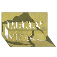 Stylish Gold Stone Merry Xmas 3d Greeting Card (8x4) by yoursparklingshop