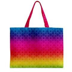 Rainbow Rings Medium Zipper Tote Bag by PhotoThisxyz