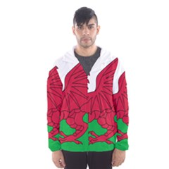 Flag of Wales Hooded Wind Breaker (Men) by abbeyz71