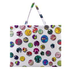 Play With Me Zipper Large Tote Bag by Valentinaart