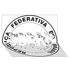 National Seal Of Brazil  Sorry 3d Greeting Card (8x4)