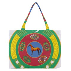 National Emblem Of Turkmenistan, 2000 2003 Medium Zipper Tote Bag