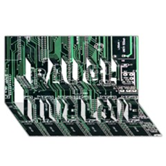 Printed Circuit Board Circuits Laugh Live Love 3D Greeting Card (8x4) by Zeze