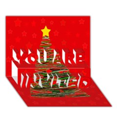 Xmas tree 3 YOU ARE INVITED 3D Greeting Card (7x5) by Valentinaart