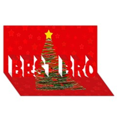 Xmas tree 3 BEST BRO 3D Greeting Card (8x4) by Valentinaart