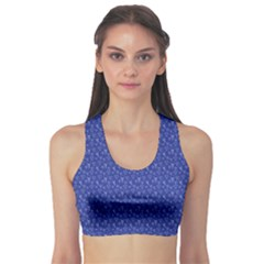 Diamonds And Icecream On Blue Sports Bra
