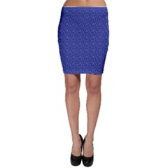 Diamonds And Icecream On Blue Bodycon Skirt