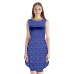 Diamonds And Icecream On Blue Sleeveless Chiffon Dress