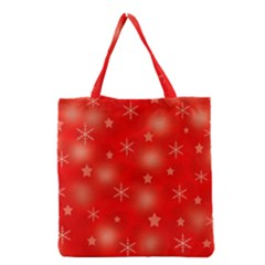 Red Xmas Desing Grocery Tote Bag by Valentinaart
