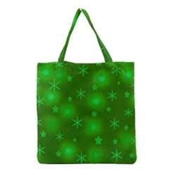 Green Xmas Design Grocery Tote Bag by Valentinaart