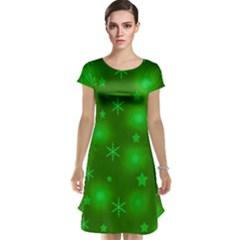 Green Xmas Design Cap Sleeve Nightdress by Valentinaart
