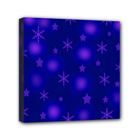 Blue Xmas Design Mini Canvas 6  X 6  by Valentinaart