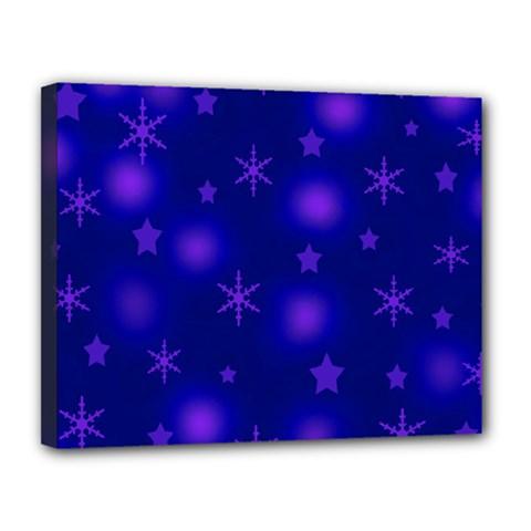 Blue Xmas Design Canvas 14  X 11  by Valentinaart