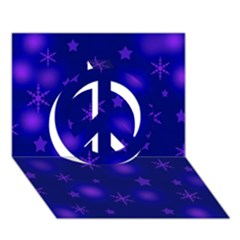 Blue Xmas Design Peace Sign 3d Greeting Card (7x5) by Valentinaart