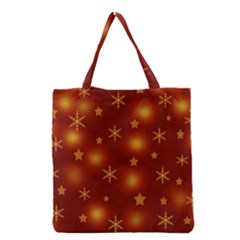 Xmas Design Grocery Tote Bag by Valentinaart