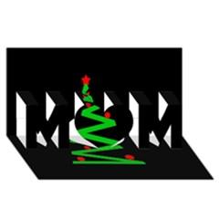 Simple Xmas Tree Mom 3d Greeting Card (8x4) by Valentinaart