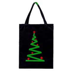 Simple Xmas Tree Classic Tote Bag by Valentinaart