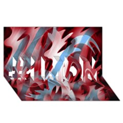Blue And Red Smoke #1 Mom 3d Greeting Cards (8x4)