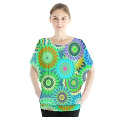 Funky Flowers A Blouse by MoreColorsinLife