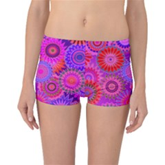 Funky Flowers C Boyleg Bikini Bottoms by MoreColorsinLife