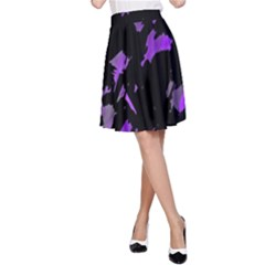 Painter Was Here   Purple A Line Skirt by Valentinaart