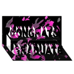 Painter Was Here   Magenta Congrats Graduate 3d Greeting Card (8x4) by Valentinaart