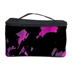 Painter Was Here   Magenta Cosmetic Storage Case by Valentinaart