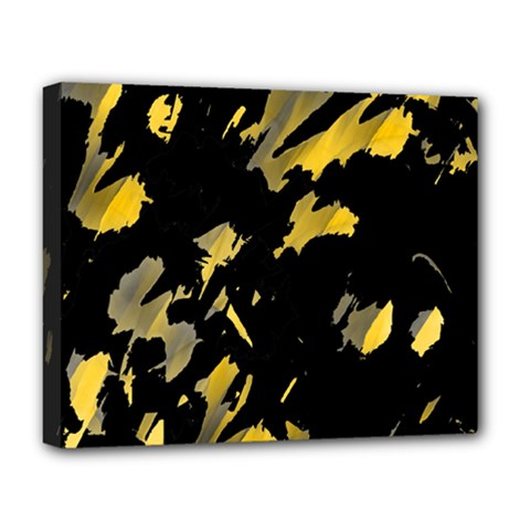 Painter Was Here   Yellow Deluxe Canvas 20  X 16   by Valentinaart
