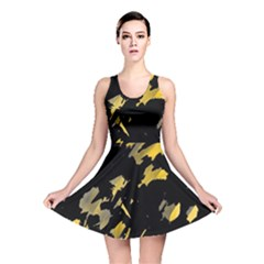 Painter Was Here   Yellow Reversible Skater Dress by Valentinaart