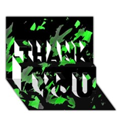 Painter Was Here   Green Thank You 3d Greeting Card (7x5)