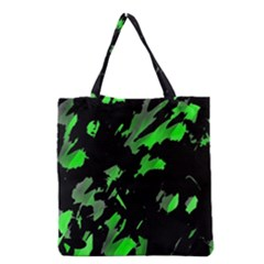Painter Was Here   Green Grocery Tote Bag by Valentinaart