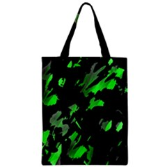 Painter Was Here   Green Zipper Classic Tote Bag by Valentinaart