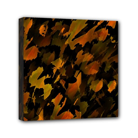 Abstract Autumn  Mini Canvas 6  X 6  by Valentinaart
