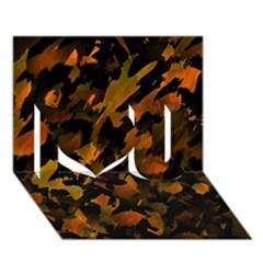 Abstract Autumn  I Love You 3d Greeting Card (7x5) by Valentinaart