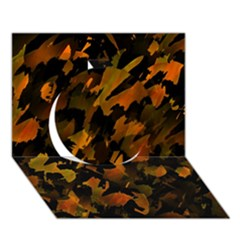 Abstract Autumn  Circle 3d Greeting Card (7x5) by Valentinaart