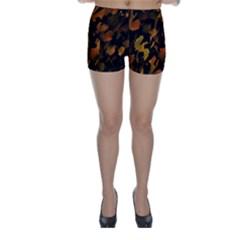 Abstract Autumn  Skinny Shorts