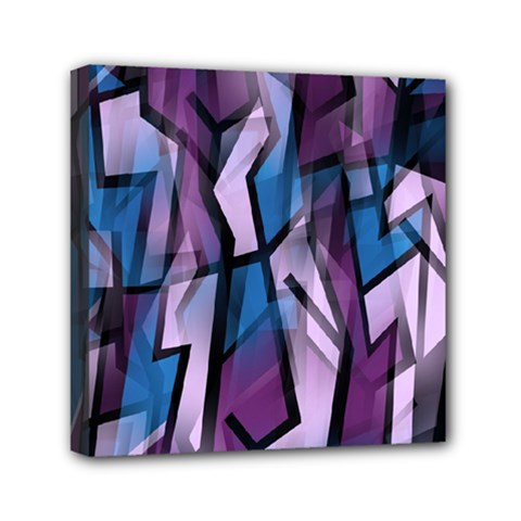 Purple Decorative Abstract Art Mini Canvas 6  X 6  by Valentinaart