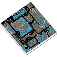 Blue And Brown Abstraction Small Memo Pads by Valentinaart