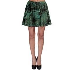 Green Town Skater Skirt by Valentinaart
