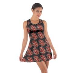 Hsp On Black Cotton Racerback Dress