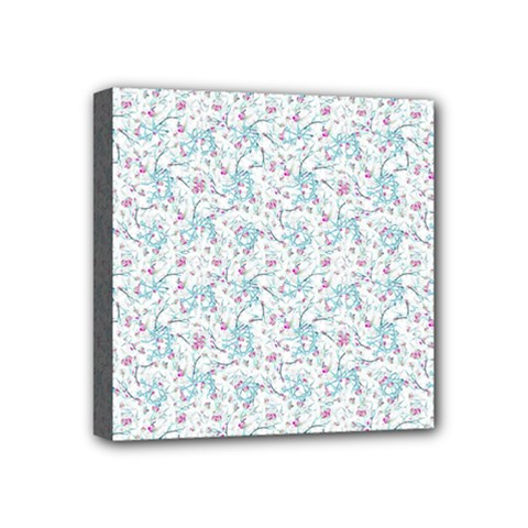 Intricate Floral Collage  Mini Canvas 4  X 4  by dflcprints