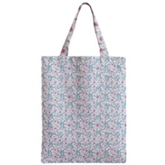 Intricate Floral Collage  Zipper Classic Tote Bag by dflcprintsclothing