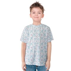 Intricate Floral Collage  Kids  Cotton Tee